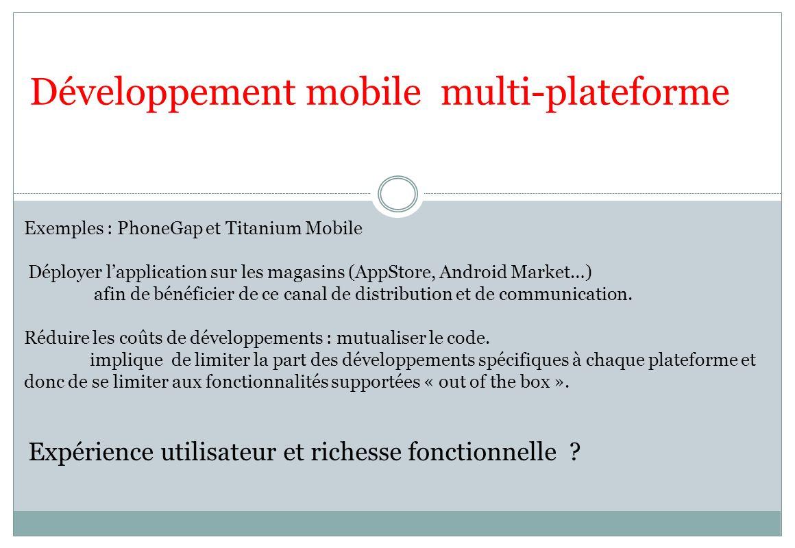 Développement mobile multi-plateforme
