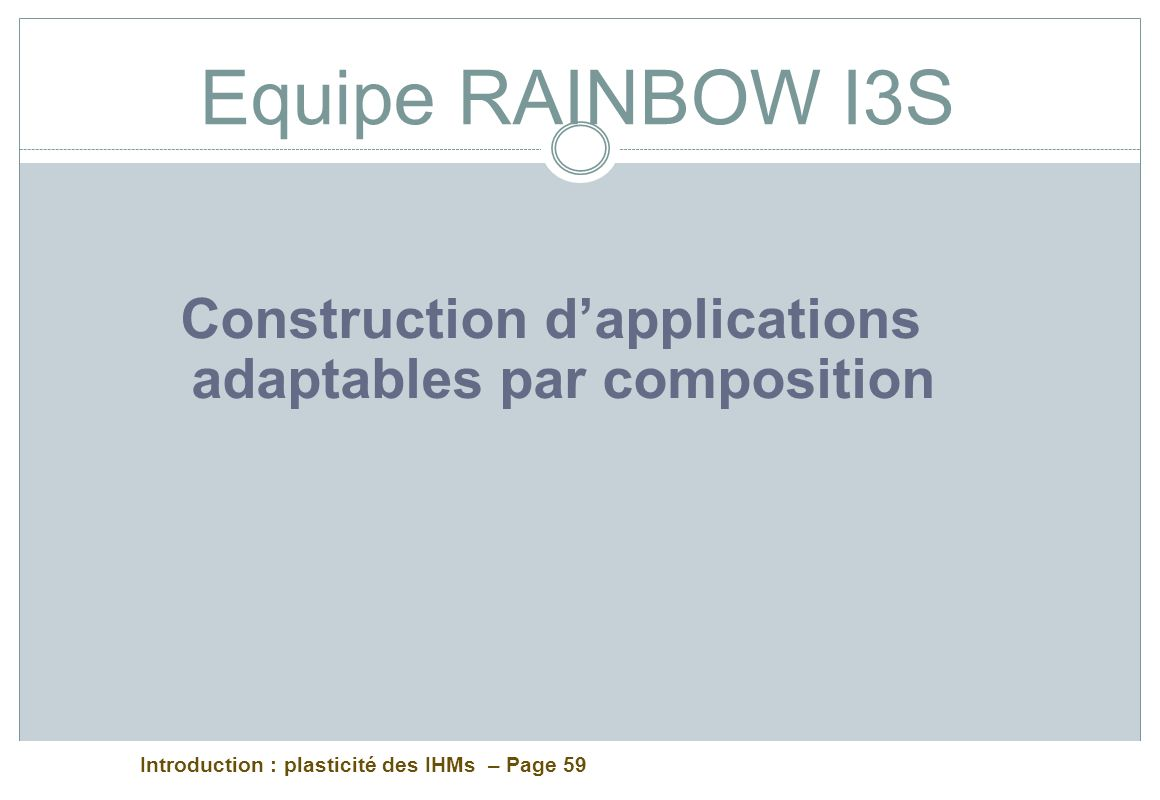 Construction d'applications adaptables par composition