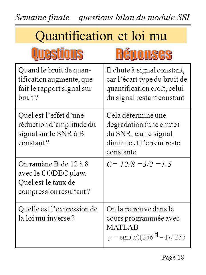 Quantification et loi mu