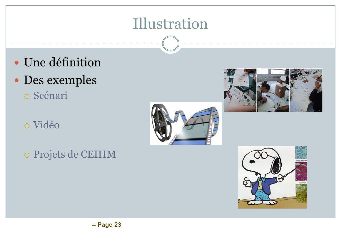 Illustration Une définition Des exemples Scénari Vidéo