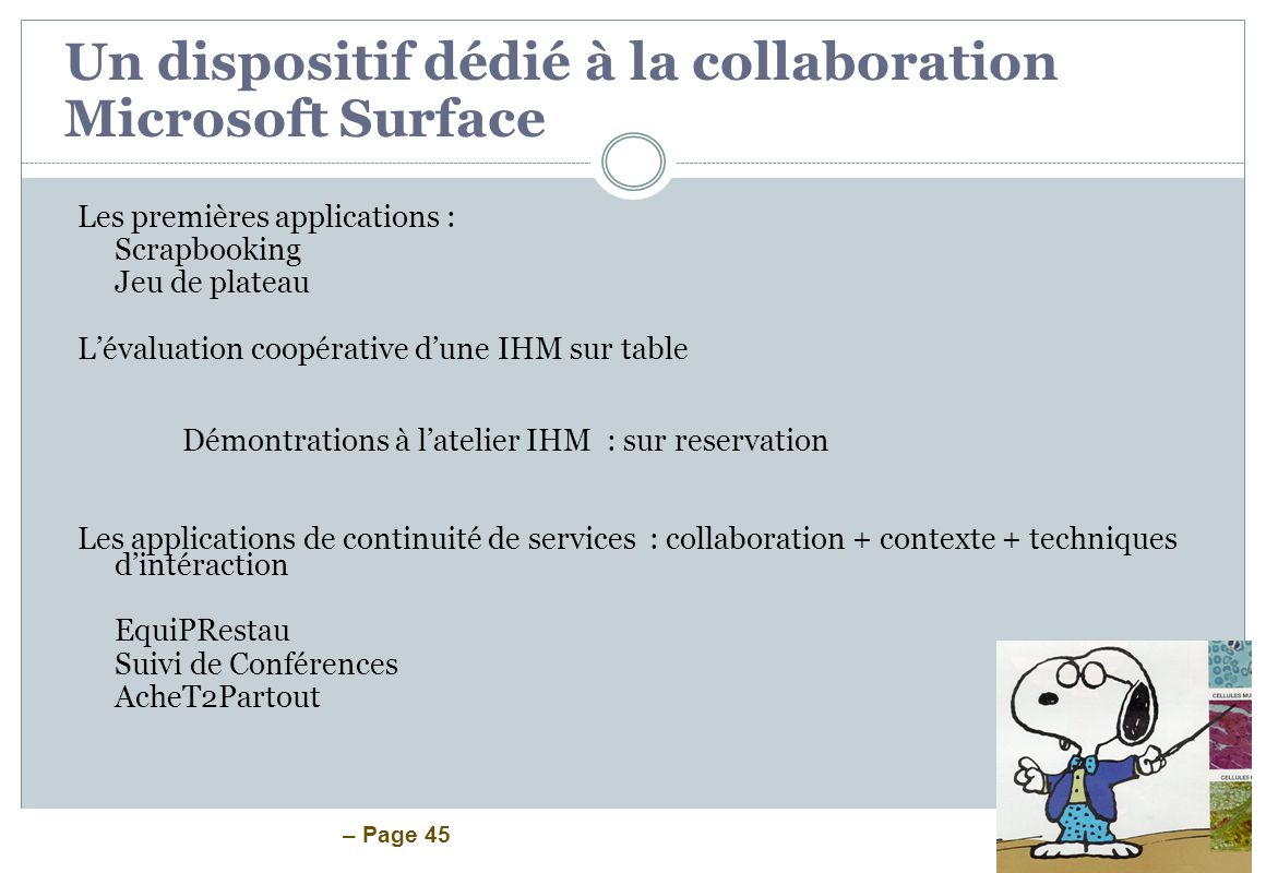 Un dispositif dédié à la collaboration Microsoft Surface
