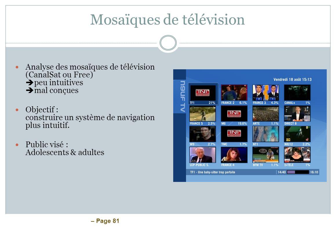 Mosaïques de télévision