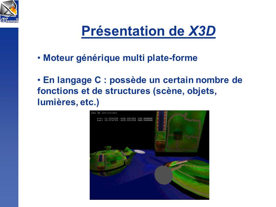 Présentation de X3D Moteur générique multi plate-forme
