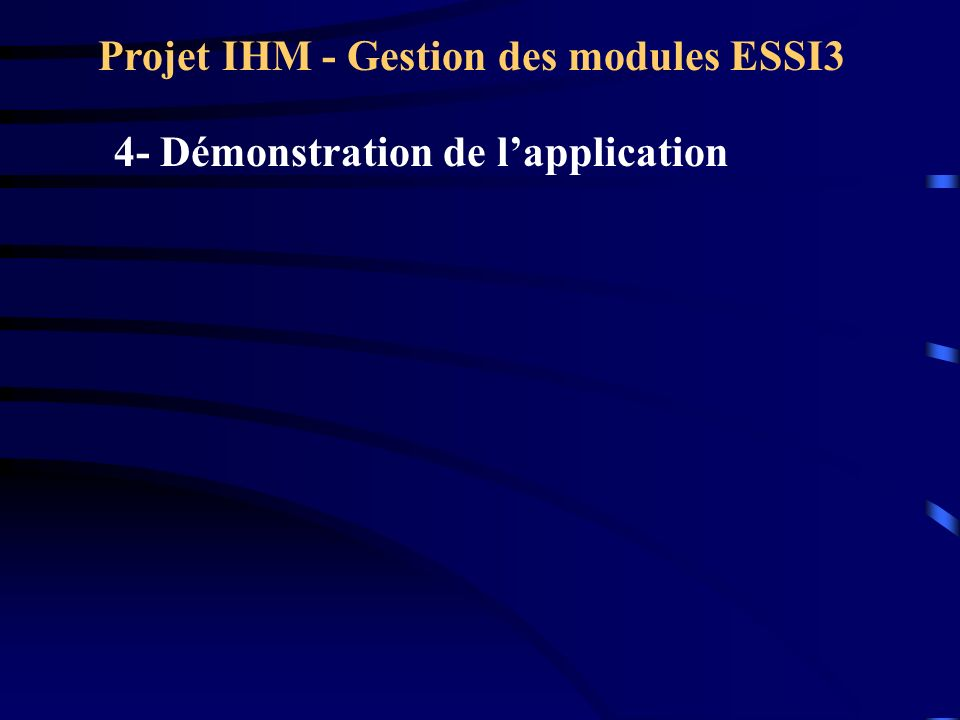Projet IHM - Gestion des modules ESSI3