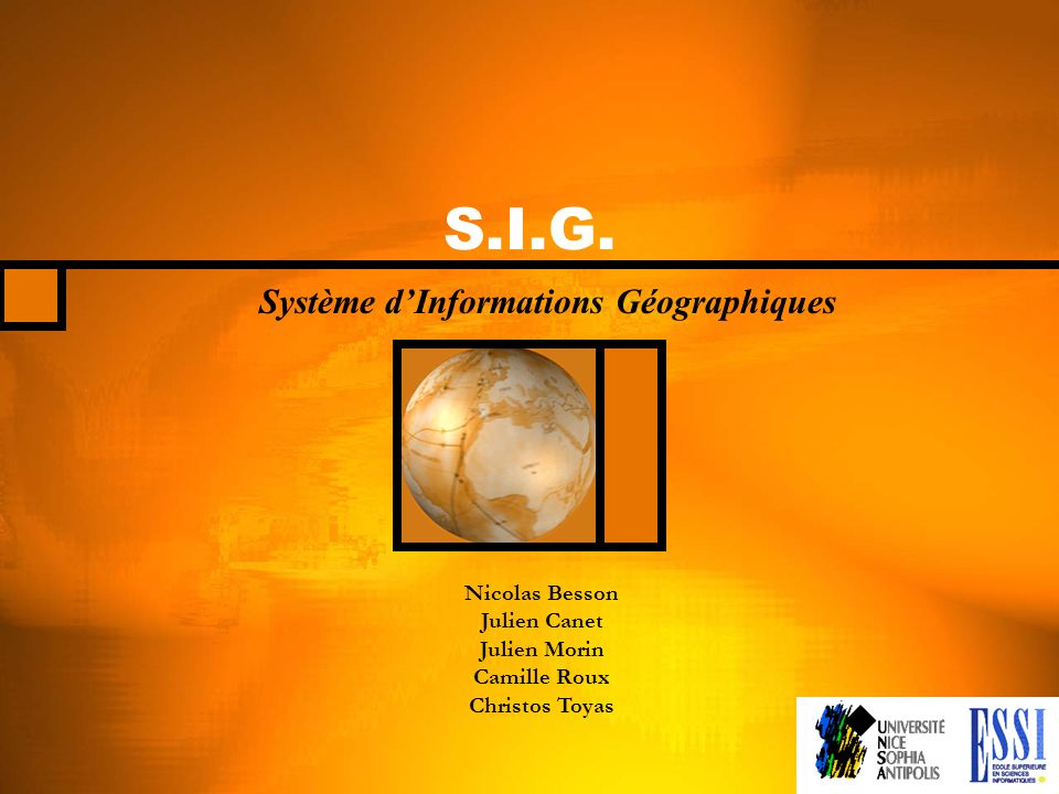 Système d'Informations Géographiques