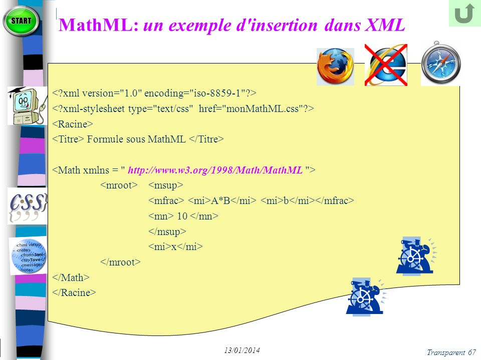 MathML: un exemple d insertion dans XML