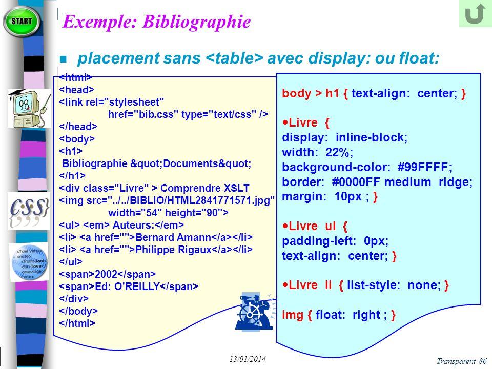 Exemple: Bibliographie