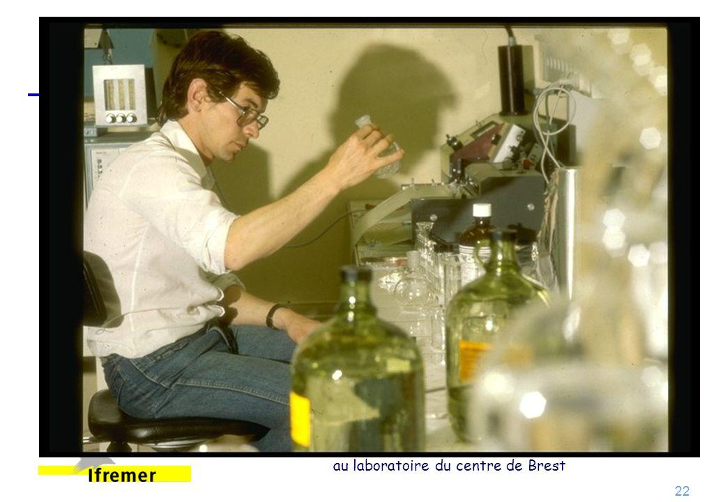 Traitement des échantillons de mesures chimiques au laboratoire du centre de Brest