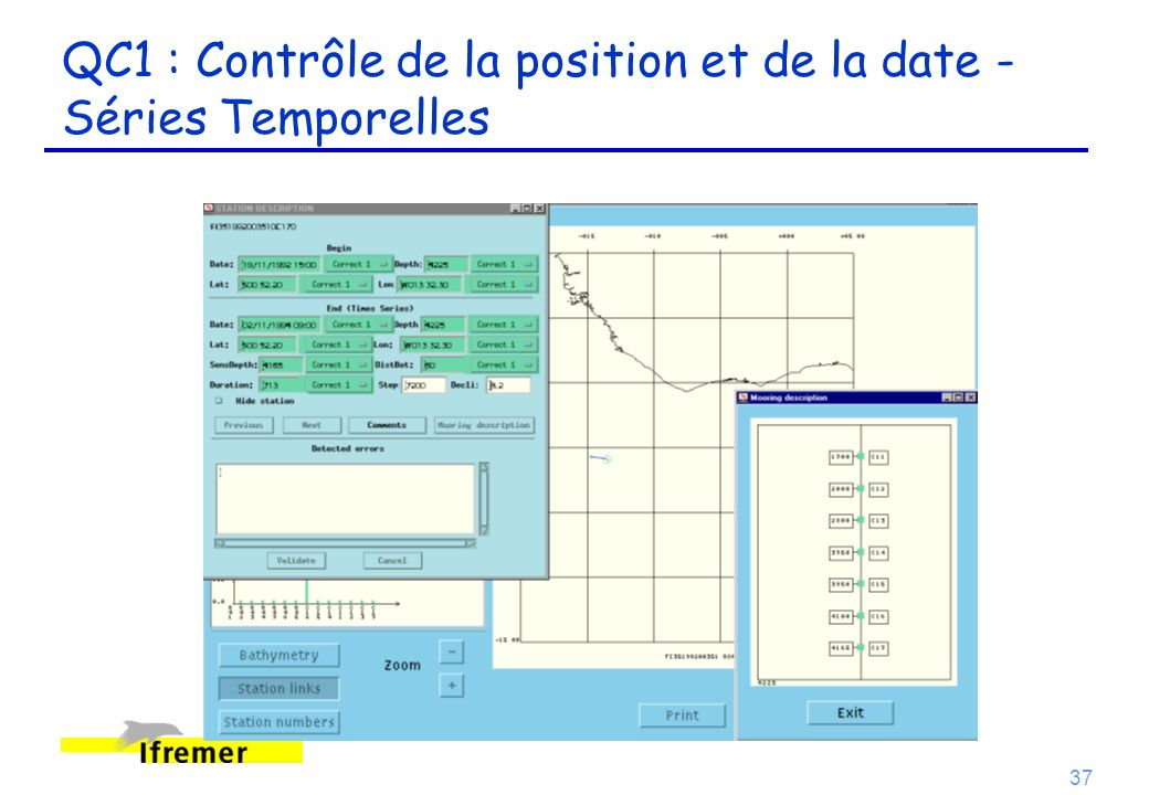 QC1 : Contrôle de la position et de la date - Séries Temporelles