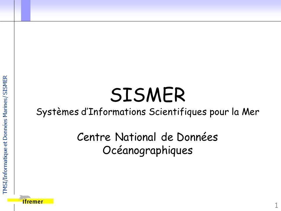 SISMER Centre National de Données Océanographiques