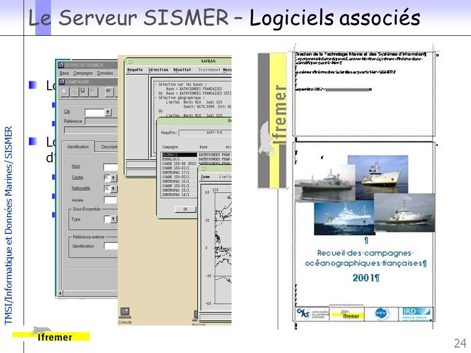 Le Serveur SISMER – Logiciels associés