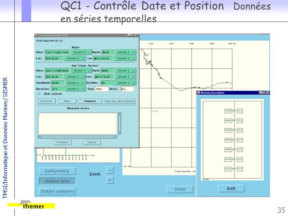 QC1 - Contrôle Date et Position Données en séries temporelles