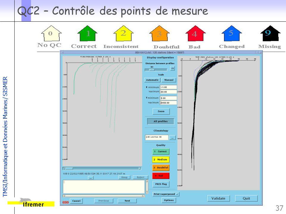 QC2 – Contrôle des points de mesure