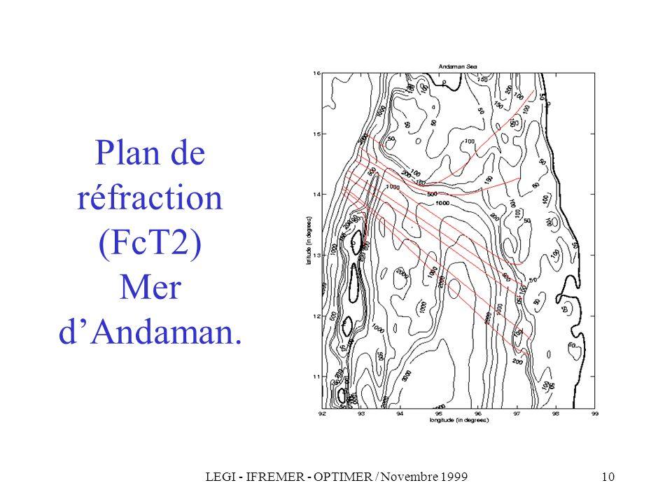 Plan de réfraction (FcT2) Mer d'Andaman.
