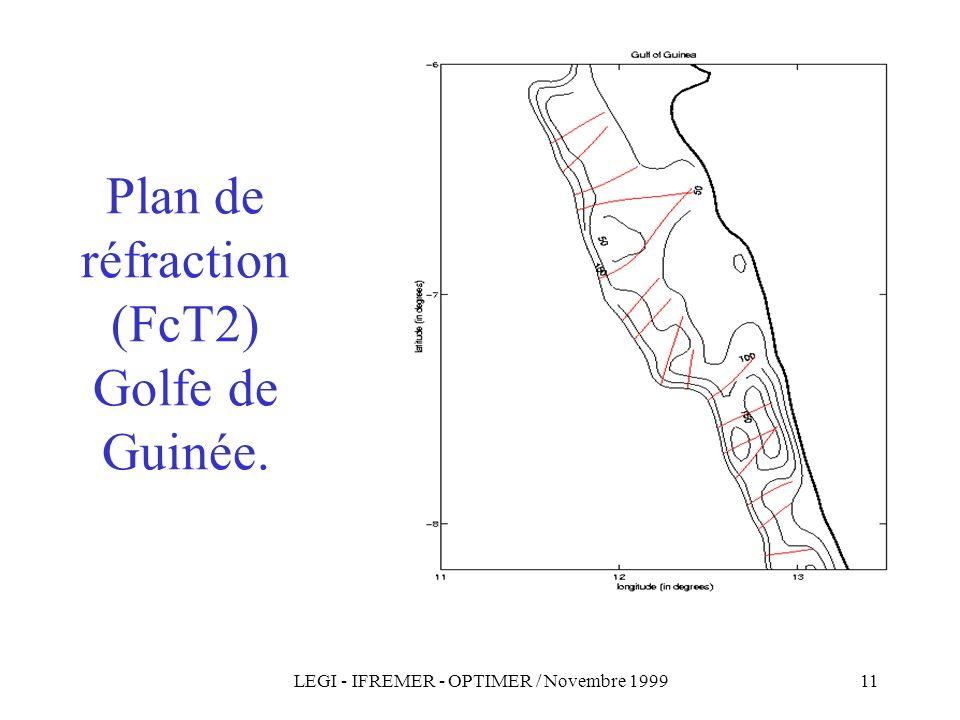 Plan de réfraction (FcT2) Golfe de Guinée.