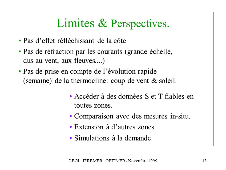 Limites & Perspectives.