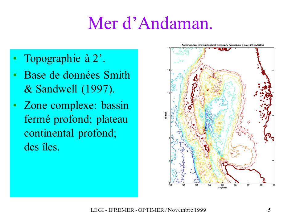 LEGI - IFREMER - OPTIMER / Novembre 1999