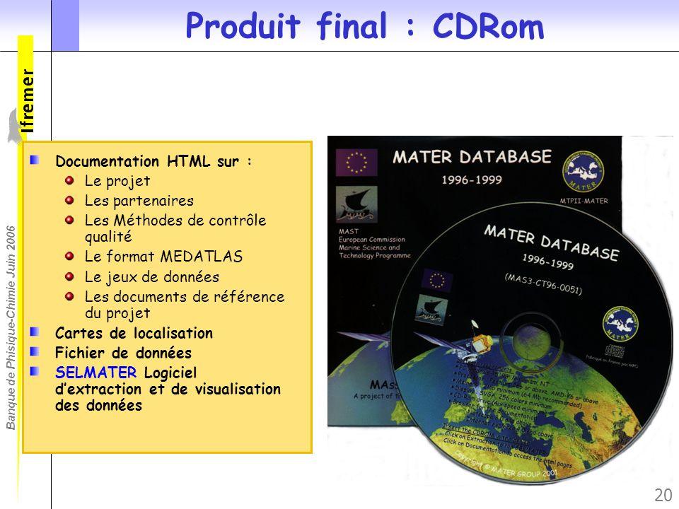 Produit final : CDRom Documentation HTML sur : Le projet