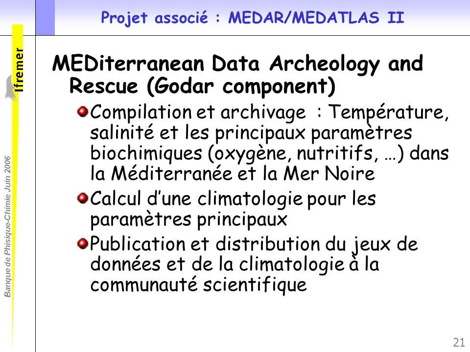 Projet associé : MEDAR/MEDATLAS II
