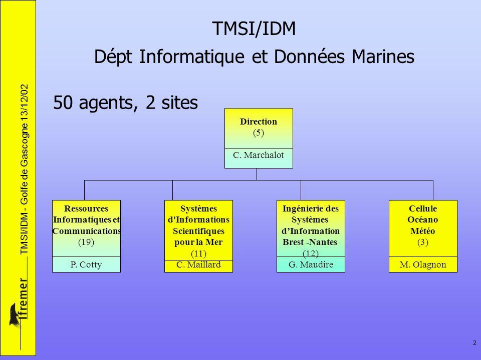 TMSI/IDM Dépt Informatique et Données Marines