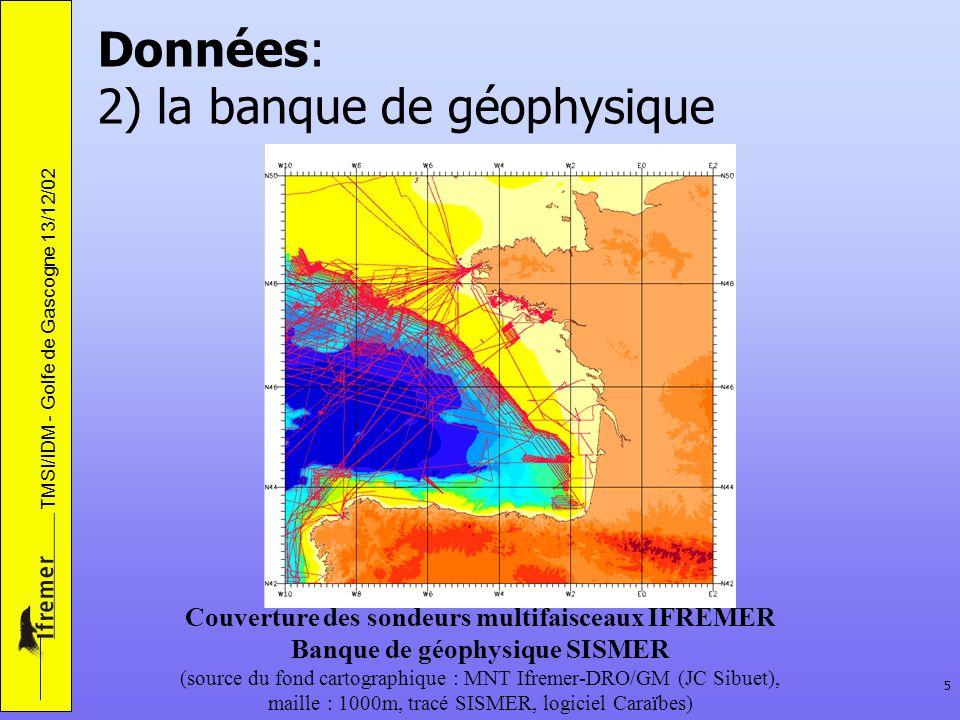 Données: 2) la banque de géophysique