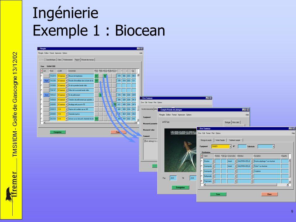 Ingénierie Exemple 1 : Biocean
