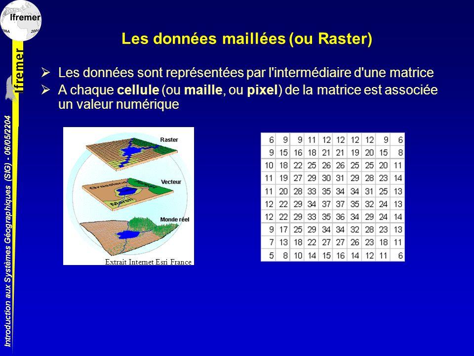 Les données maillées (ou Raster)