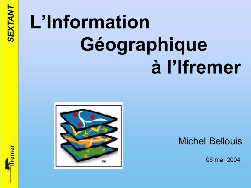 L'Information Géographique à l'Ifremer