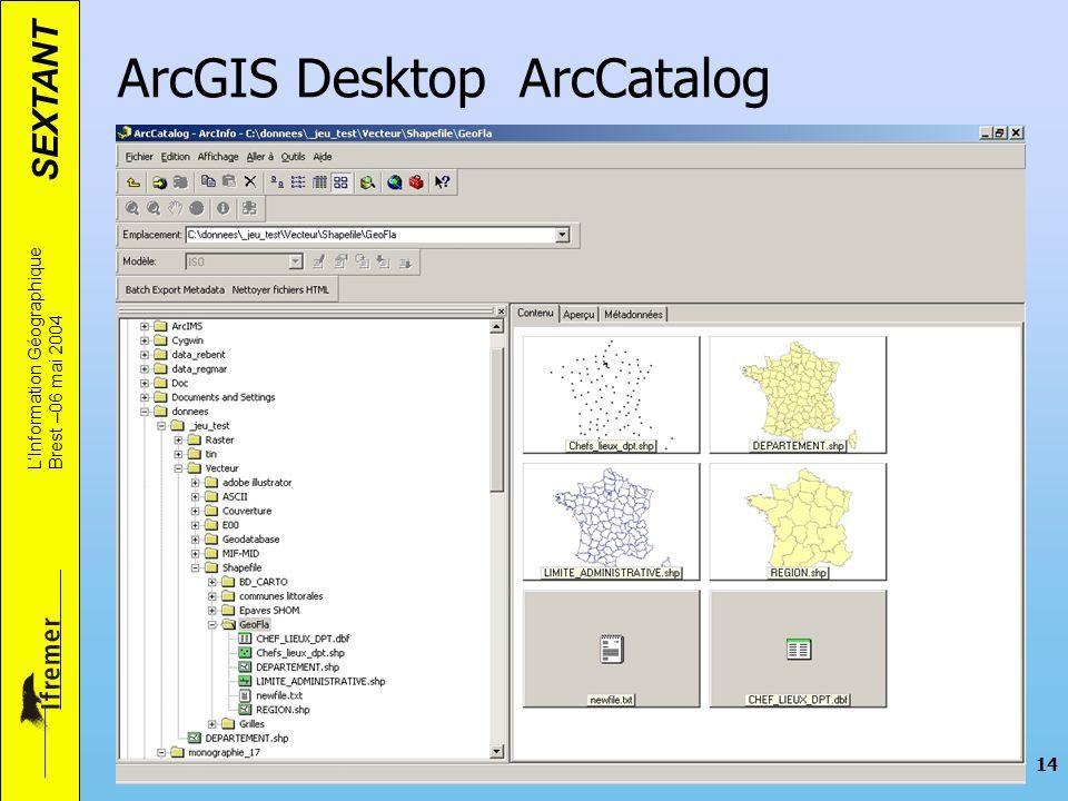 ArcGIS Desktop ArcCatalog