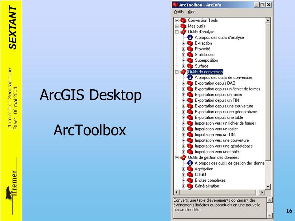 ArcGIS Desktop ArcToolbox