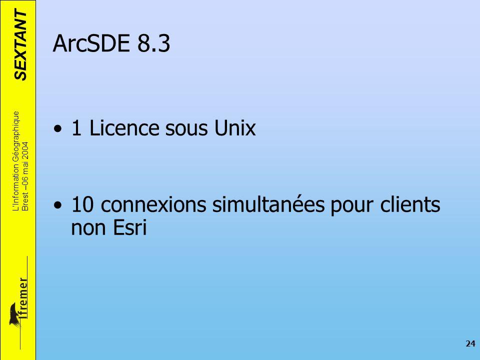 ArcSDE 8.3 1 Licence sous Unix