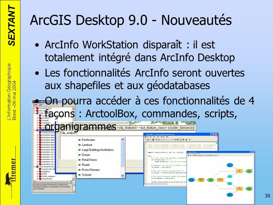 ArcGIS Desktop 9.0 - Nouveautés