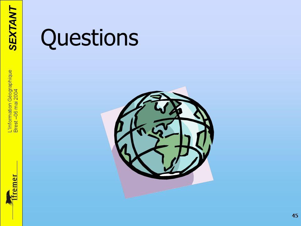 Questions L'Information Géographique Brest –06 mai 2004