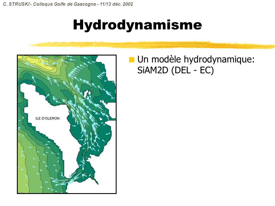 Hydrodynamisme Un modèle hydrodynamique: SiAM2D (DEL - EC)