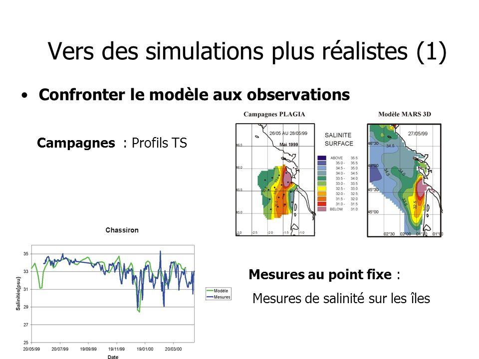Vers des simulations plus réalistes (1)