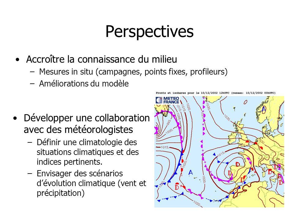 Perspectives Accroître la connaissance du milieu