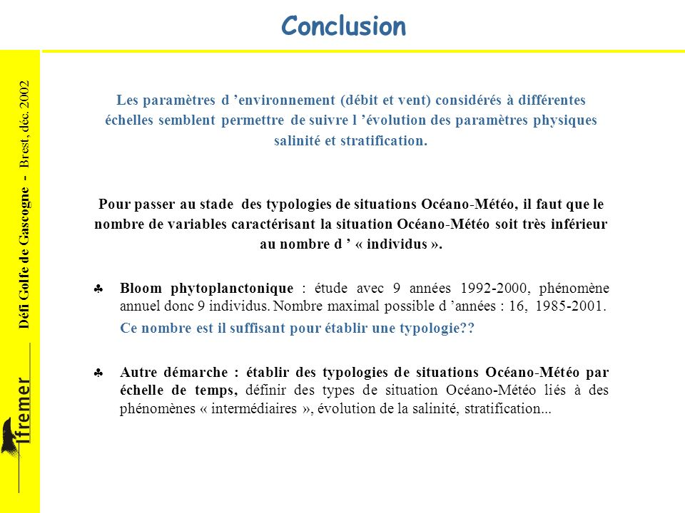 salinité et stratification. au nombre d ' « individus ».