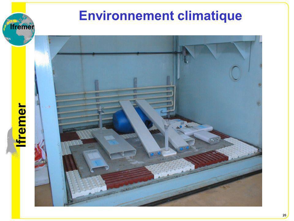 Environnement climatique