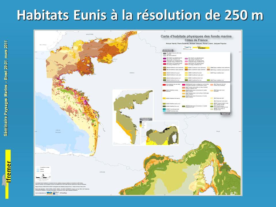 Habitats Eunis à la résolution de 250 m