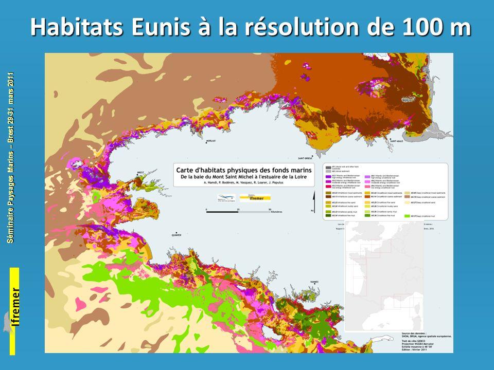 Habitats Eunis à la résolution de 100 m