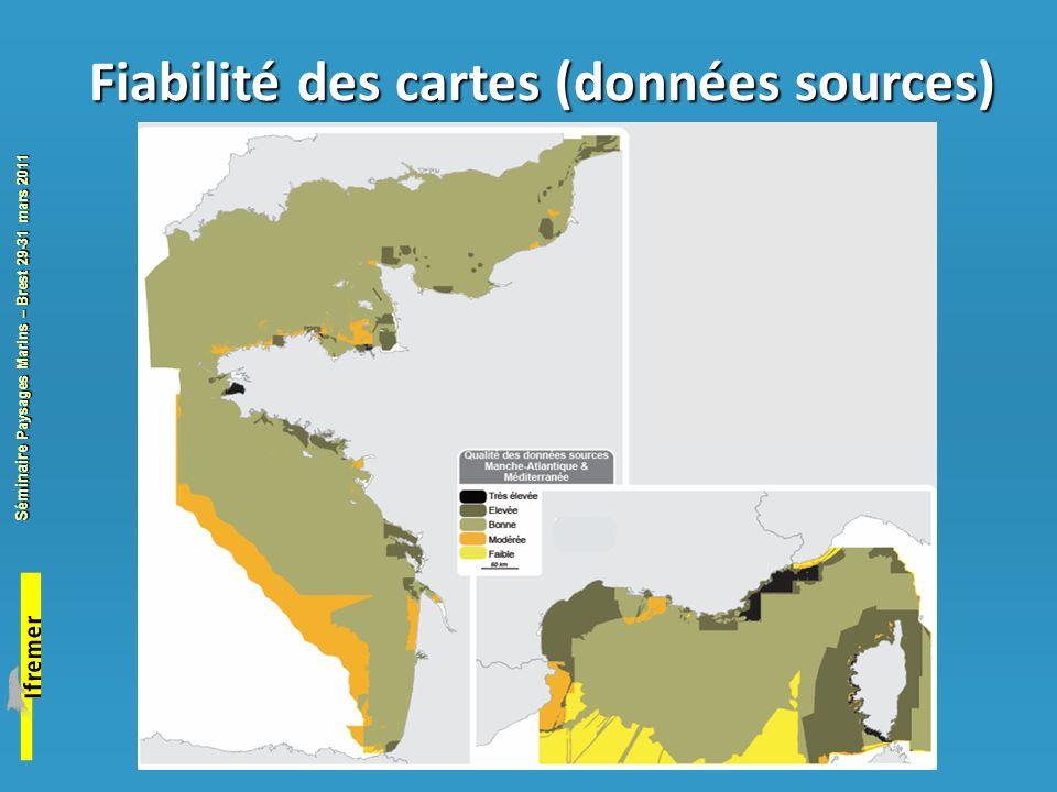 Fiabilité des cartes (données sources)