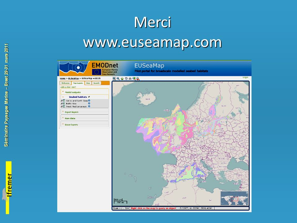 Merci www.euseamap.com. I will briefly summarize the objectives of the contract, as laid out in the tender specification.