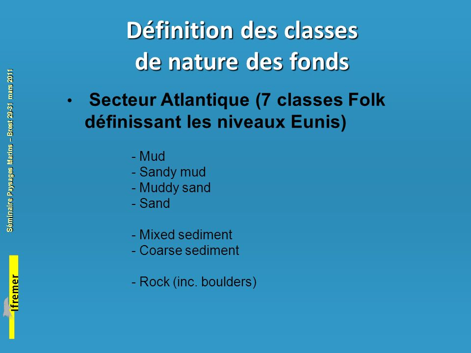 Définition des classes