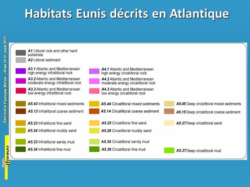 Habitats Eunis décrits en Atlantique