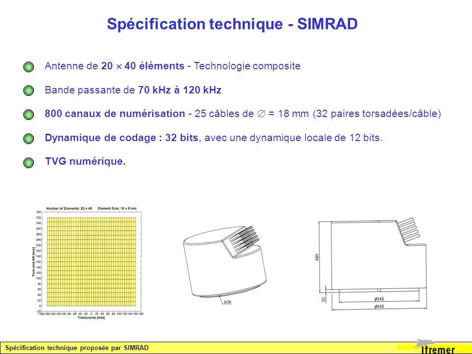 Spécification technique - SIMRAD