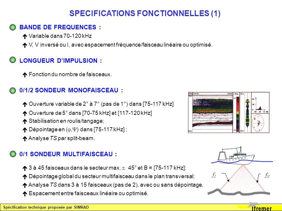 SPECIFICATIONS FONCTIONNELLES (1)