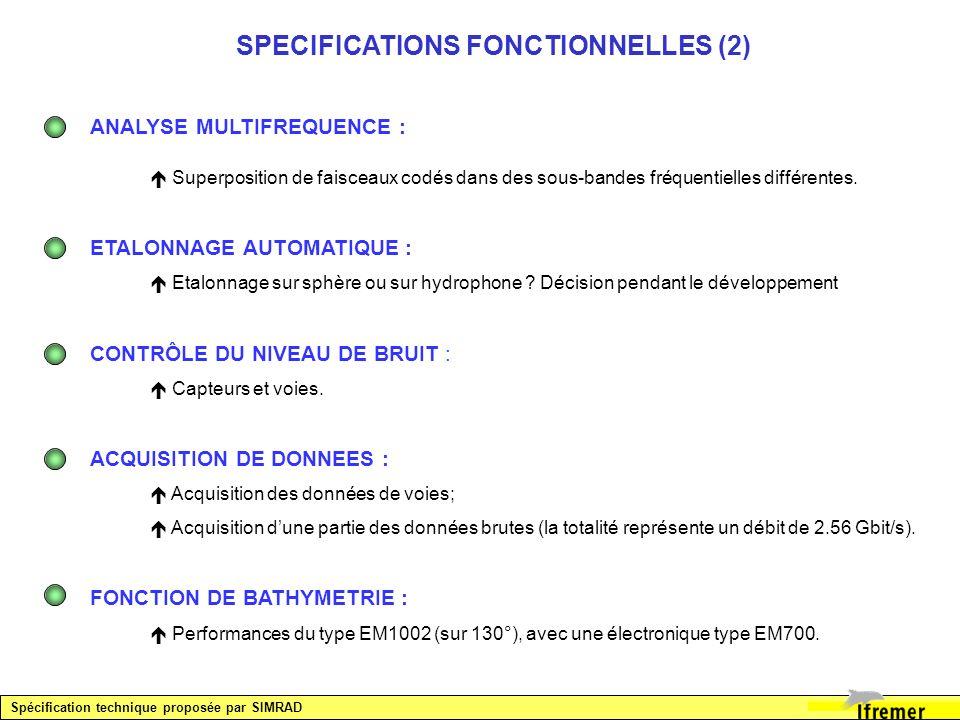 SPECIFICATIONS FONCTIONNELLES (2)