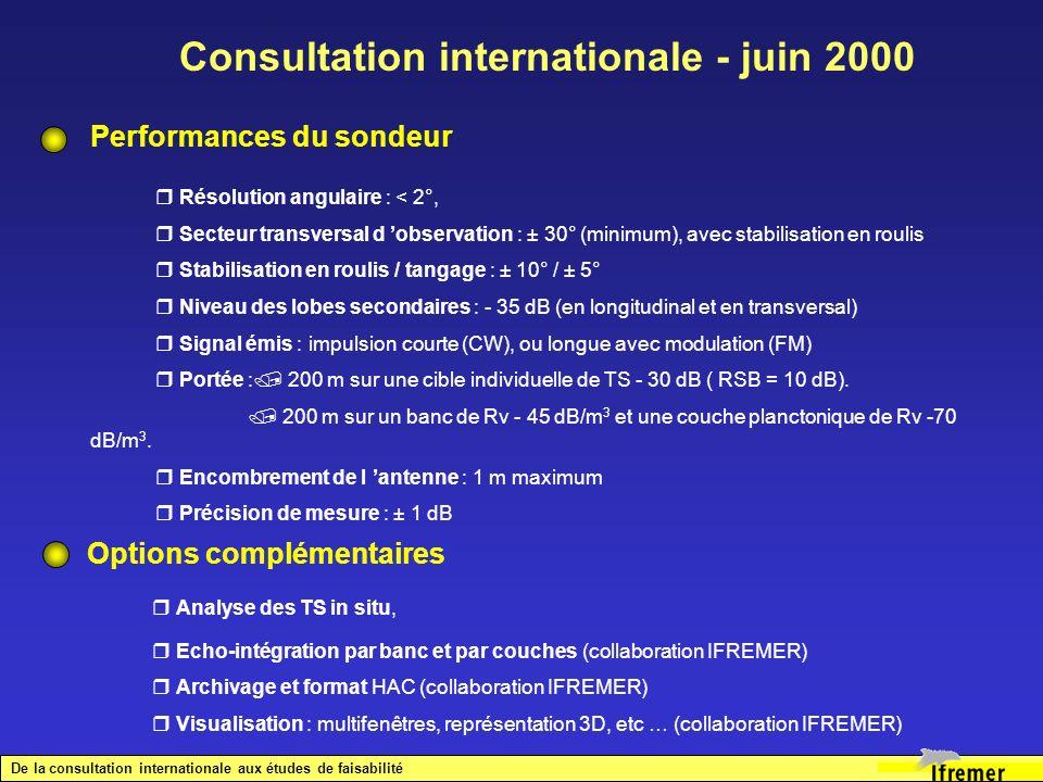 Consultation internationale - juin 2000
