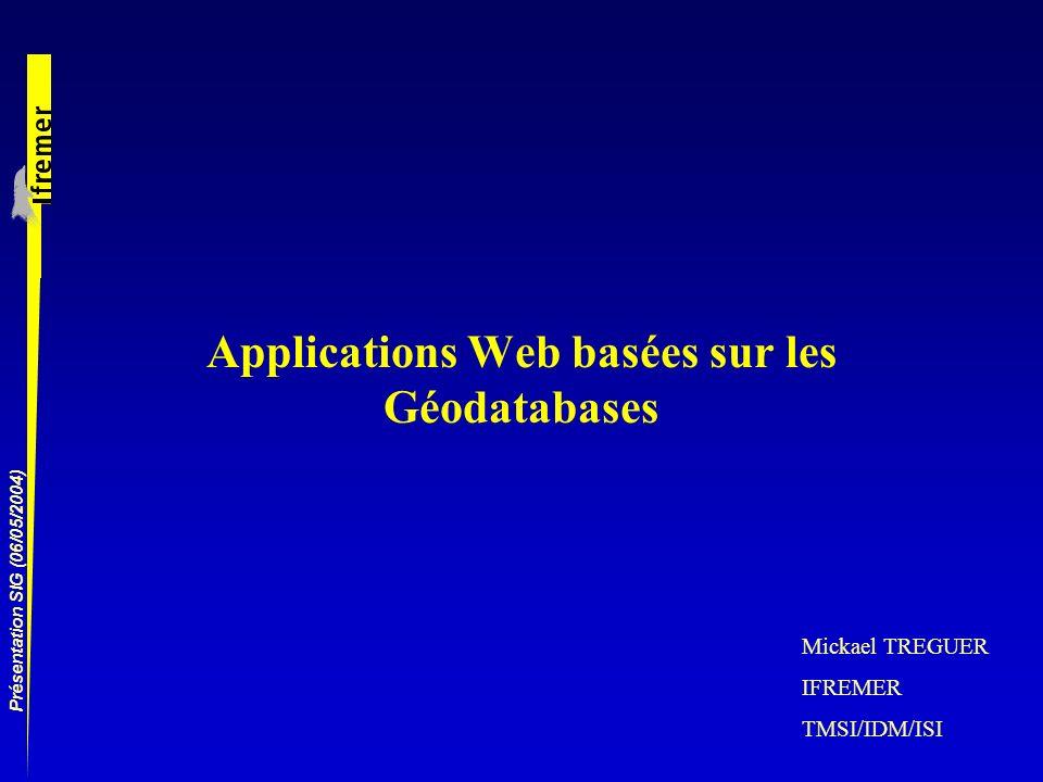 Applications Web basées sur les Géodatabases
