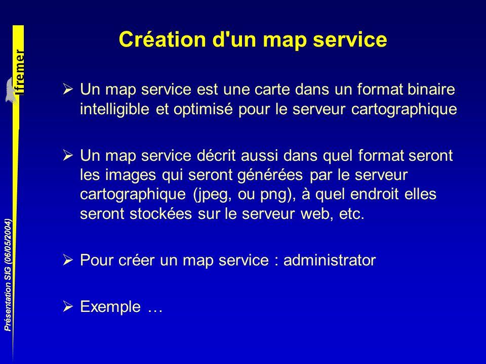 Création d un map service